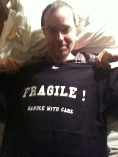 Fragile handle with care, very appropriate now.