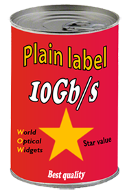 Plain label can