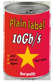 Plain label can