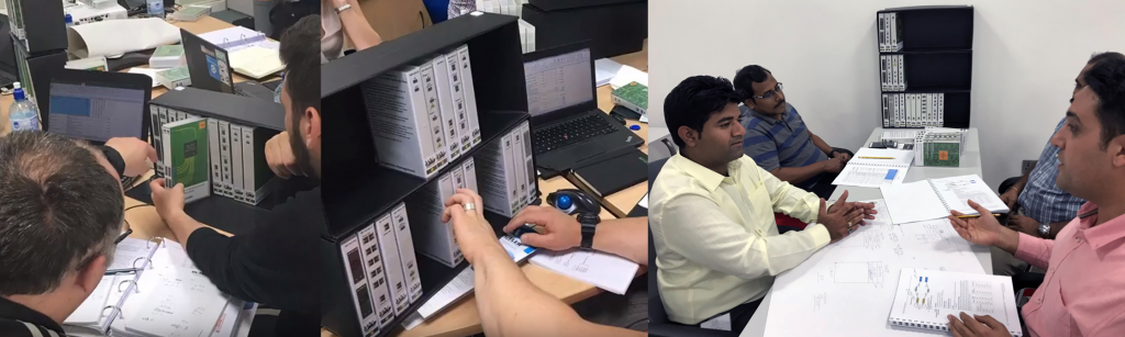 Trainees using WhizzieKit on OTT's optical networking course