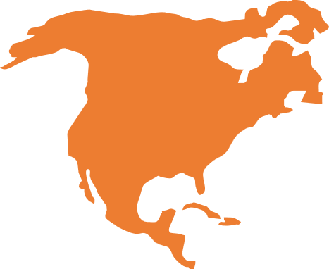 North America map icon
