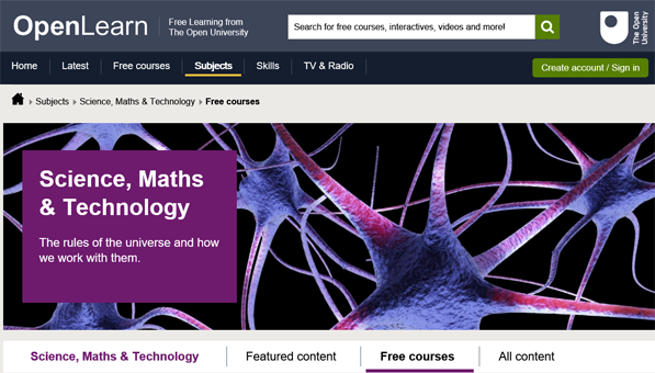 OpenLearn maths courses