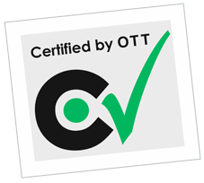 Certified by OTT logo