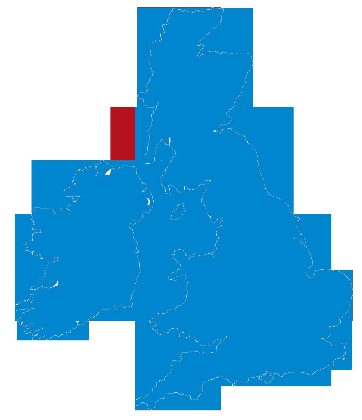 UK Ireland map icon